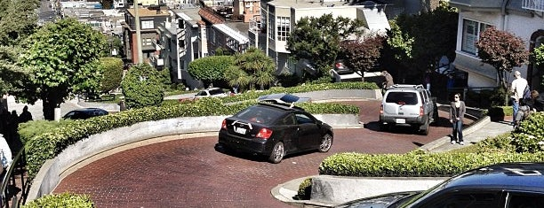 Lombard Street is one of California - The Golden State (Northern).