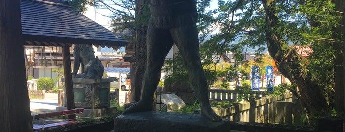 雷電為右衛門の像 is one of Tempat yang Disukai ジャック.