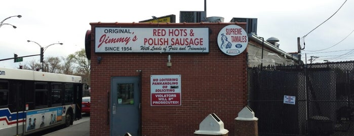 Original Jimmy's Red Hots is one of Chicago.