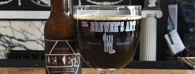 The Brewer's Art is one of A State-by-State Guide to America's Top-Rated Bars.