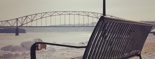 Mississippi Riverwalk is one of NE IOWA TRIP.