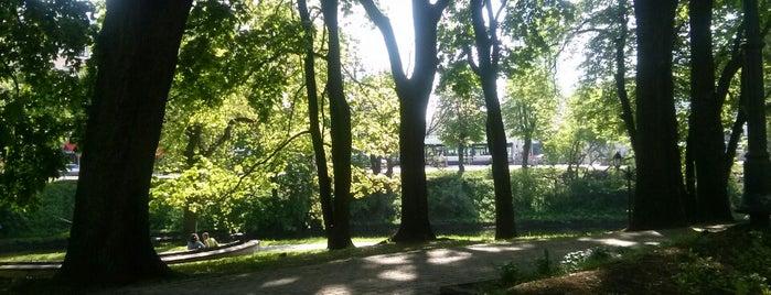Bomžu parks is one of Tempat yang Disukai Денис.