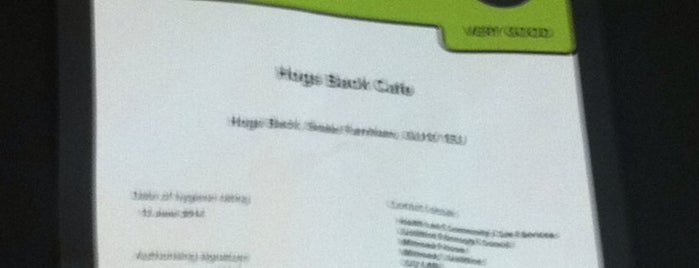 Hogs Back Cafe is one of Food & Drink to check out.