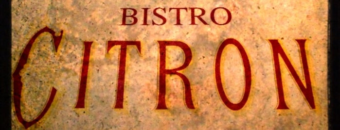 Bistro Citron is one of restaraunts.