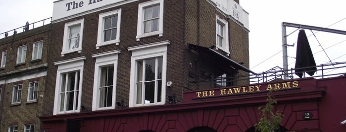 The Hawley Arms is one of London Pubs.