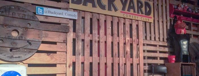 Backyard Comedy Bar & Kitchen is one of Tempat yang Disukai Kevin.