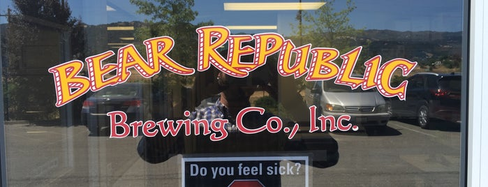 Bear Republic Brewery is one of Beer-Bar-Brew-Breweries-Drinks.