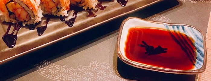 Honmono Sushi is one of Tempat yang Disukai T'aime.