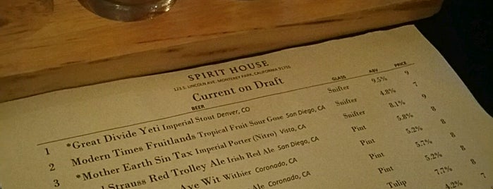 Spirit House is one of Craft Beer.