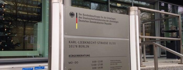 Bundesbeauftragter für die Unterlagen des Staatssicherheitsdienstes der DDR (BStU) is one of DDR.