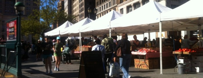 Borough Hall Greenmarket is one of NYC Health: NYC Farmers' Markets.