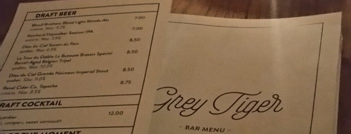Grey Tiger is one of Good Dates in T.O..