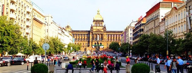 Praça Venceslau is one of Prague.