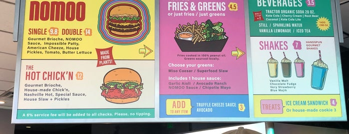 Nomoo New American Burgers is one of Vegan LA.