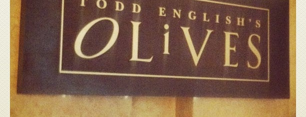 Todd English's Olives is one of Locais curtidos por Sebastian.