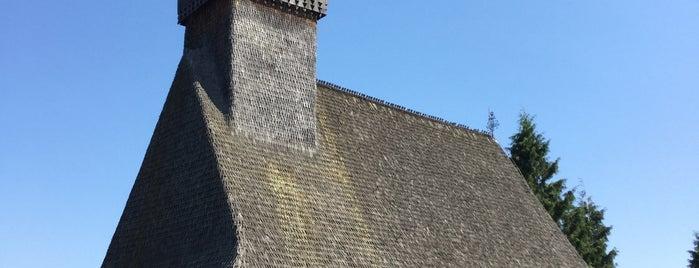 """Biserica de Lemn """"Sf. Paraschiva"""" is one of UNESCO World Heritage Sites in Eastern Europe."""