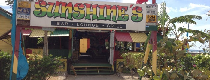 Sunshines Bar & Grill is one of Nevis.
