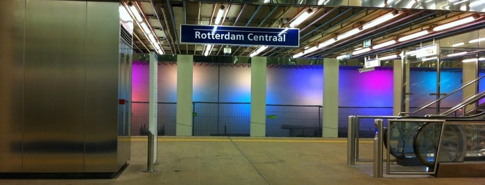 Metrostation Rotterdam Centraal is one of Metro E.