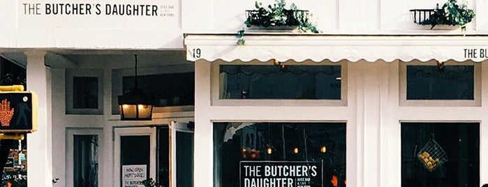 The Butcher's Daughter is one of New York Foodie.