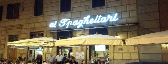 Ai Spaghettari is one of Roma - a must! = Peter's Fav's.