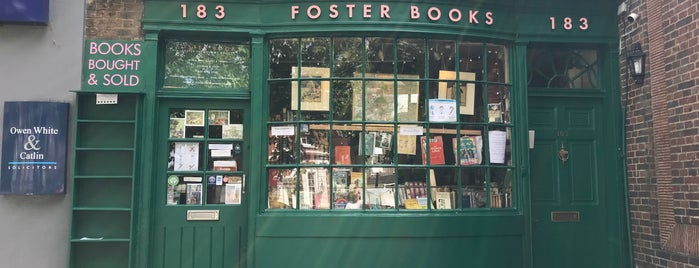 Foster Books is one of London.