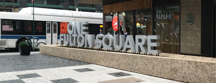 ONE Fulton Square is one of Queens Eats.