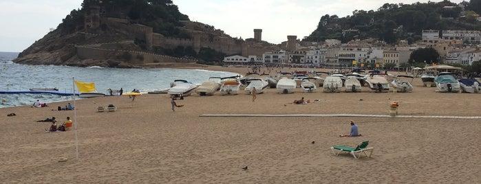 Tossa de Mar Beach is one of Andrey : понравившиеся места.