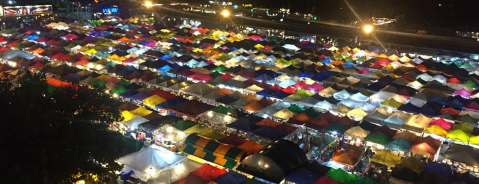 Train Night Market Ratchada is one of Bangkok.