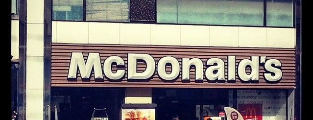 マクドナルド 綾瀬店 is one of Tempat yang Disukai naos.