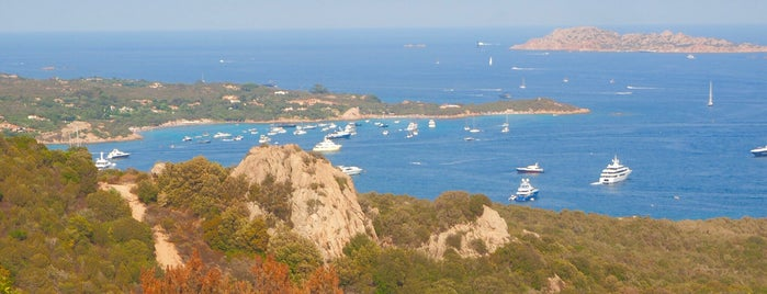 "Panoramic View Over ""Cala di Volpe"" Bay is one of Sardinia."