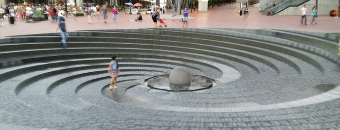 Darling Harbour Water Spiral is one of Sydney Sightseeing.