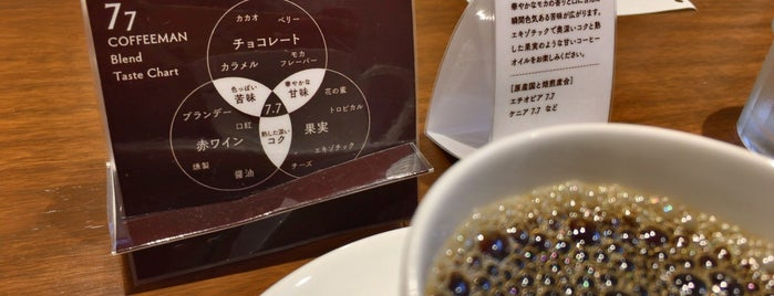 COFFEEMAN is one of 大人が行きたいうまい店2 福岡.