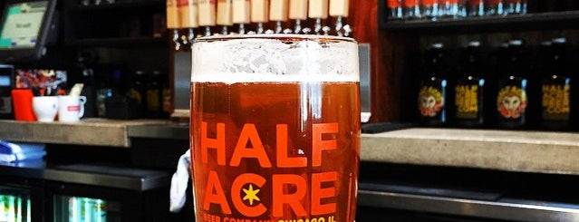 Half Acre Beer Company is one of 20 Great Spots for a Summer Beer in Chicago.