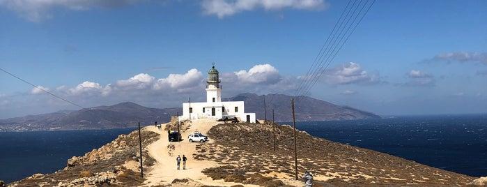Armenistis Lighthouse (Fanari) is one of Mykonos.