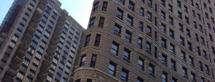 Flatiron Building is one of NEW YORK CITY.
