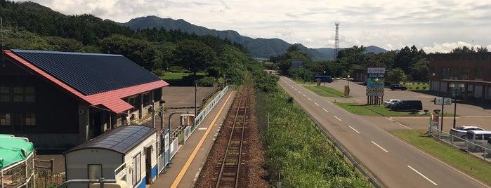 あきた白神駅 is one of JR 키타토호쿠지방역 (JR 北東北地方の駅).