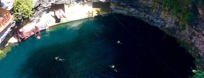 Cenote Xcajum is one of Lieux qui ont plu à Sergio.