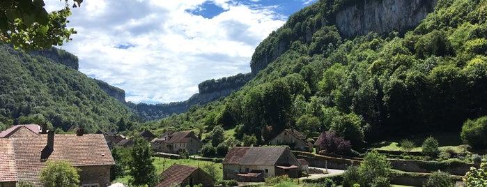 Baume-les-Messieurs is one of Les plus beaux villages de France.
