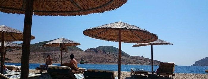 Petra Beach Patmos is one of Greek Islands.