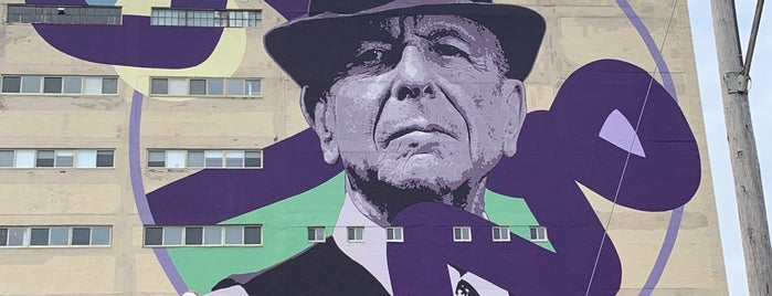 Leonard Cohen Mural is one of Rexさんの保存済みスポット.