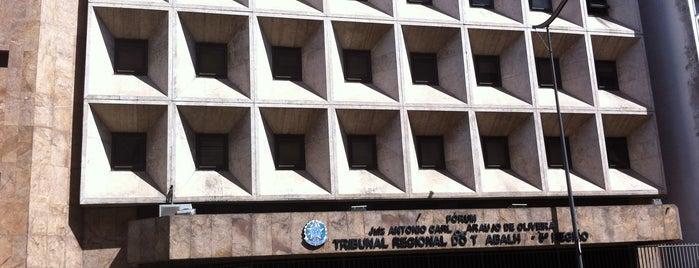 Fórum Juiz Antônio Carlos Araújo de Oliveira - Tribunal Regional do Trabalho (TRT 5ª Região) is one of สถานที่ที่ Marcos ถูกใจ.