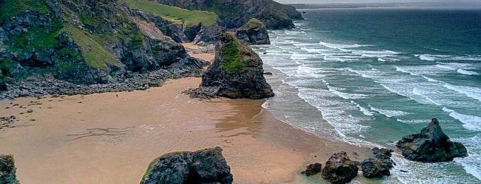 Bedruthan Steps Beach is one of Lieux sauvegardés par Sevgi.