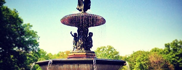 Bethesda Fountain is one of New York.
