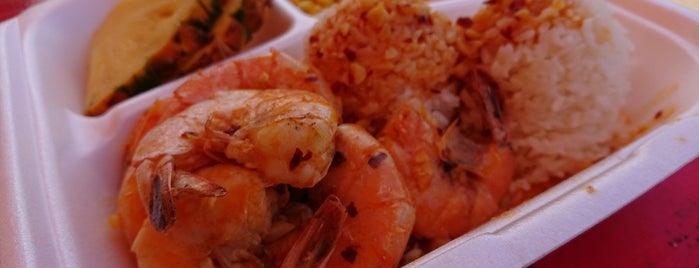 Fumi's Kahuku Shrimp is one of Oahu.