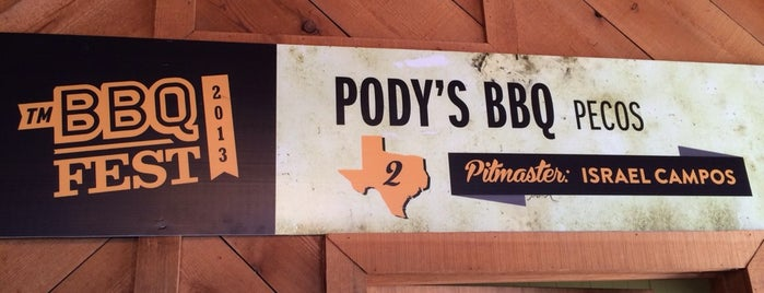 Pody's BBQ is one of Texas Monthly's Top 50 BBQ Joints in Texas.