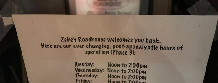 Zeke's Roadhouse is one of Best Bars in the U.S..