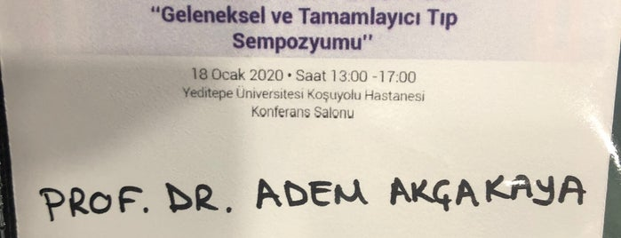 Yeditepe Üniversitesi İhtisas Hastanesi is one of Tempat yang Disukai Akif.