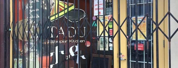 Tadu Ethiopian Kitchen is one of Locais salvos de Paresh.