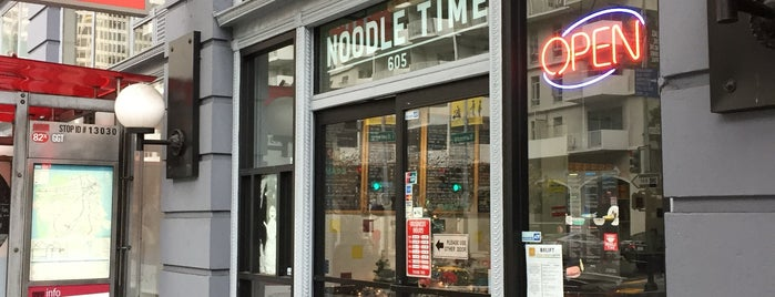 Noodle Time is one of Work lunch.