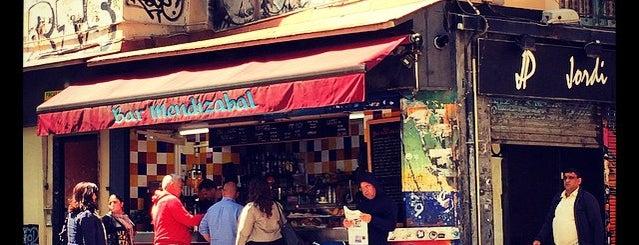 Bar Mendizábal is one of Barcelona centre.